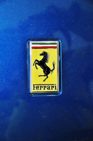 PRAGUE, CZECH REP., JANUARY 13 2015: ferrari logo