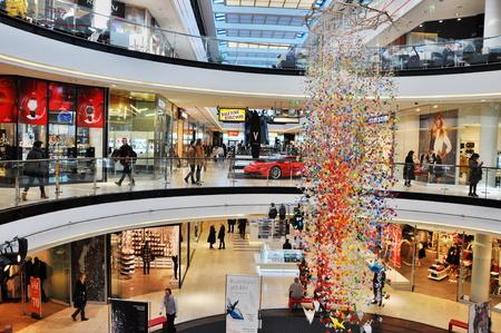 lumpur: PRAGUE, CZECH REP., JANUARY 13 2015: shopping center