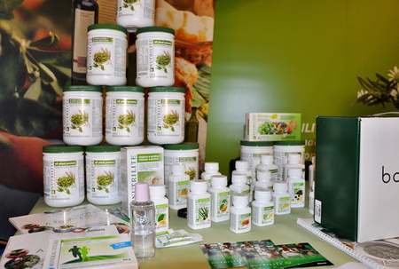 PRAGUE, CZECH REP., FEBRUARY 24, 2015: Amway products 報道画像