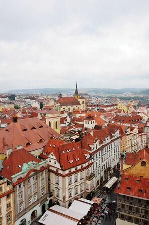 rep: PRAGUE, THE CZECH REP., JUNE 23, 2009: nice  view on capital city Prague from birds eye