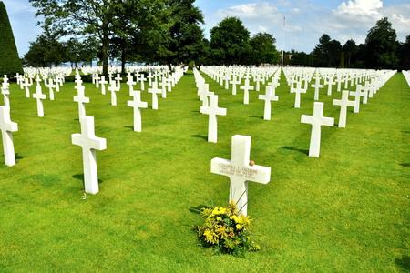 COLLEVILLE SUR MER, FRANCE., JUNE 07, 2009: american war cemetery in france