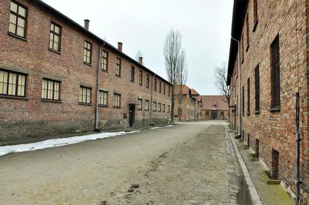 AUSCHWIT, POLAND, MARCH 10, 2010: Concentration camp Auschwitz-Birkenau
