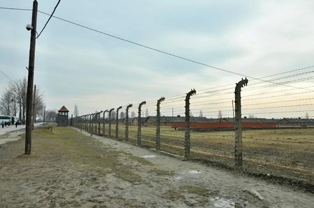 barracks: AUSCHWIT, POLAND, MARCH 10, 2010: Concentration camp Auschwitz-Birkenau