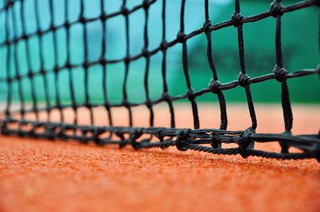close up of tennis net Banque d'images