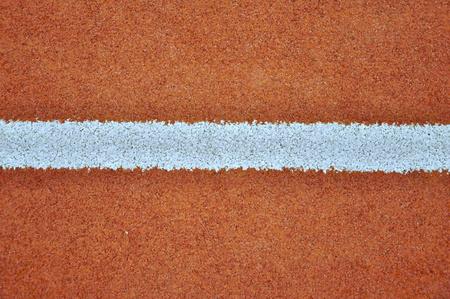 closeup of tennis court line