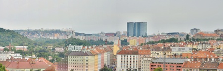 day light: Beautiful city panorama of Prague in the Czech republic