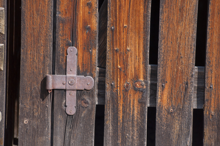 hinges: close up of wooden hinges