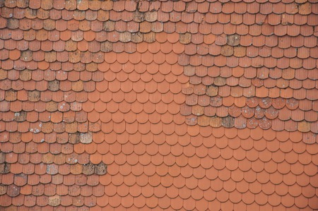 roof shingles: Texture of new and old roof shingles