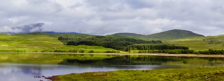 Summer view of awesome Highlands of Scotland, Europe