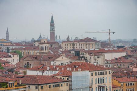 Panoramic aerial cityscape of Venice, Veneto, Italy. Panorama view from sea to Venice. Reklamní fotografie