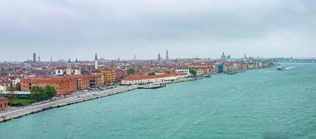 Panorama view of Venice. Panoramic aerial cityscape of Venice, Veneto, Italy. Reklamní fotografie