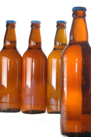 beer bottles isolated on white Stock Photo - 5704644