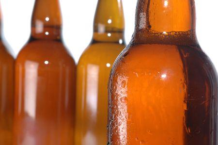 beer bottles isolated on white Stock Photo - 5704527