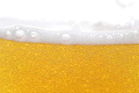 beer with bubbles close up  Stock Photo - 5704608