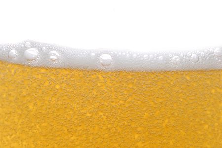 beer with bubbles close up Stock Photo - 5704599