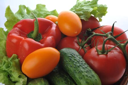 many thanks: vegetables in the basket close up