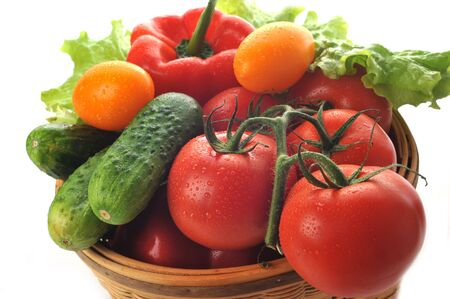 peppers: vegetables in the basket close up