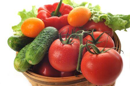 papryczki: warzywa w koszyku zamknąć w