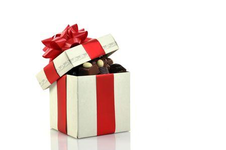 caja de leche: chocolate diferente en caja de regalo con espacio de copia