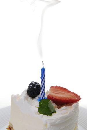 blow out: pezzo di torta con spegnere candela