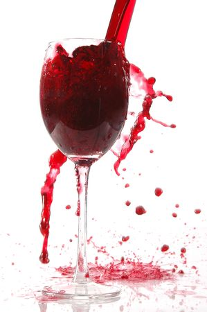 wines: pour red wine into glass