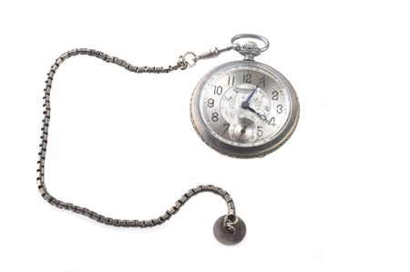 old watch isolated on white photo