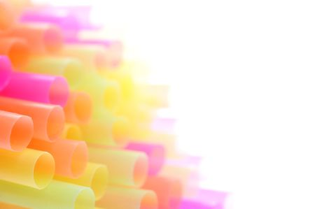 background made of color straws Stock Photo - 5778826
