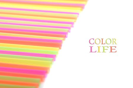 background made of color straws Stock Photo - 5778806