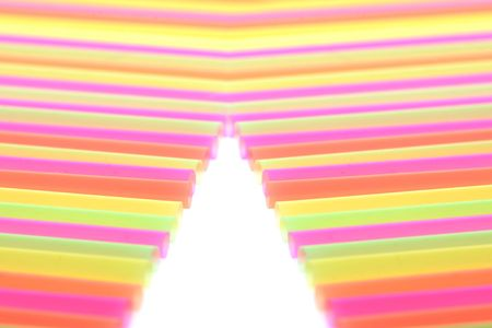 background made of color straws Stock Photo - 5778809