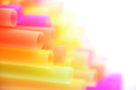 background made of color straws photo