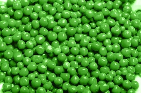 palatable: palatable tinned green peas close up