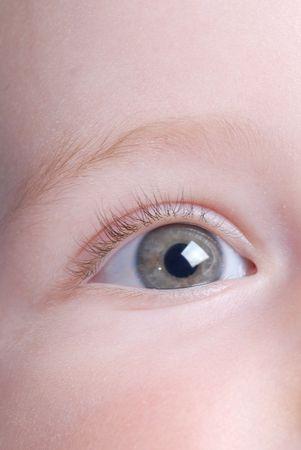 looking  eyes: beautiful baby eye close up