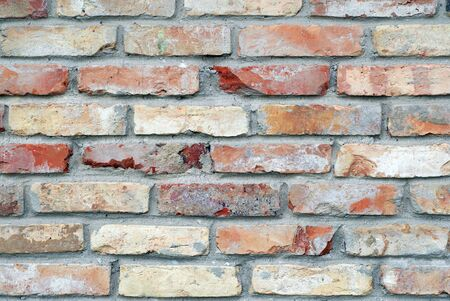 Wall of  house from red brick photo
