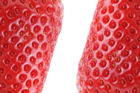 closeup of fresh and tasty strawberry isolated on white background Stock Photo - 6956395