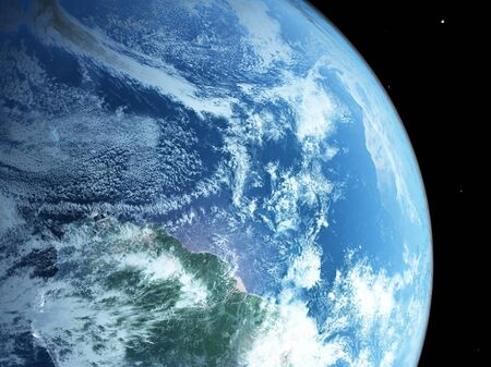 earth from space:  blue  planet earth  in space.