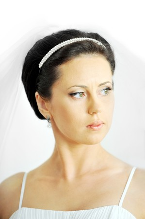 Studio portrait of beautiful stylish bride Stock Photo - 7318882