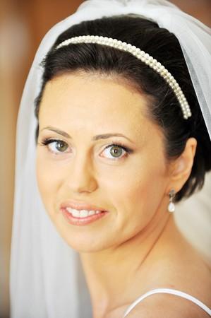 Studio portrait of beautiful stylish bride Stock Photo - 7318992