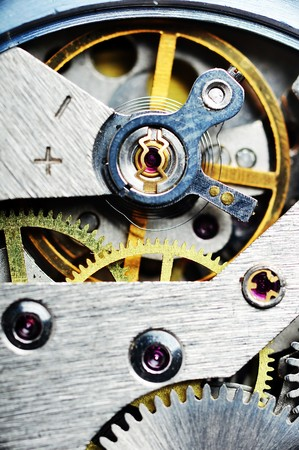 watch mechanism very close up photo