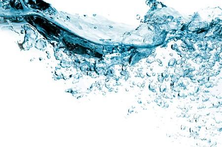 spruzzi acqua: molte bolle in acqua close up  Archivio Fotografico
