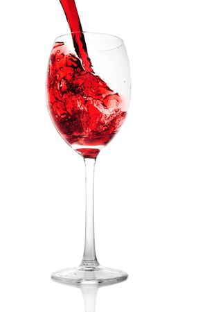 glass with red wine close up Stock Photo - 7519572