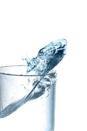 water splashing very close up