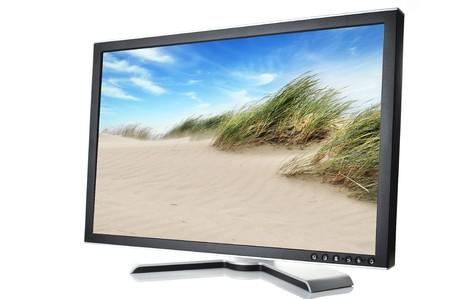 black monitor on white background photo
