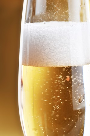 full glass of champagne close up Stock Photo - 7720433