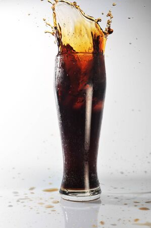 glass with cold drink costs on table Stock Photo - 7778125