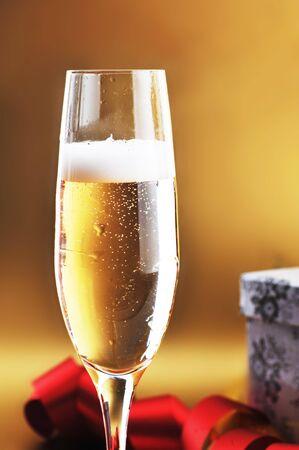 shampagne glass on celebratory table Stock Photo - 8178377