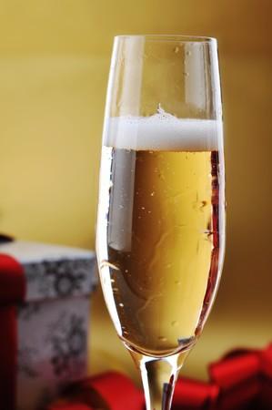 shampagne glass on celebratory table Stock Photo - 8282794