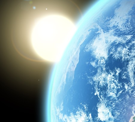 blue  planet earth  in space. Stock Photo - 8282821