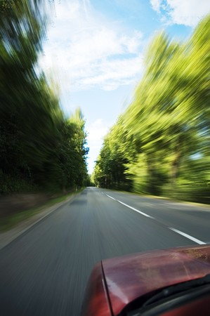car going fast Stock Photo - 8282819