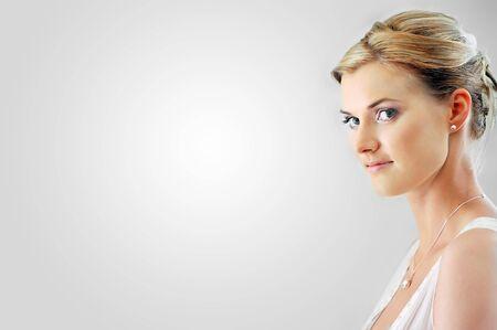 Studio portrait of beautiful woman photo