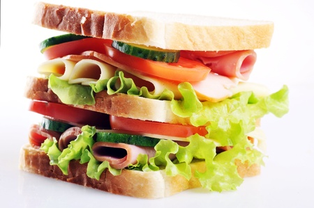 Fresh and tasty sandwich close up photo